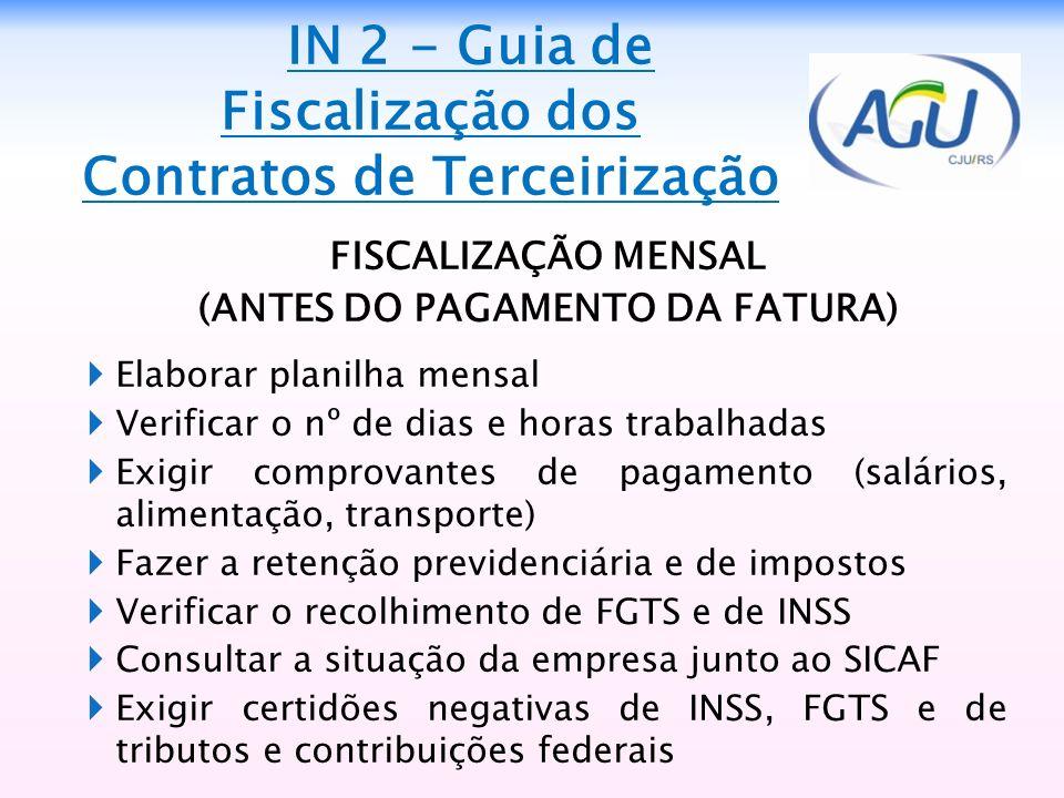 IN 2 - Guia de Fiscalização dos Contratos de Terceirização