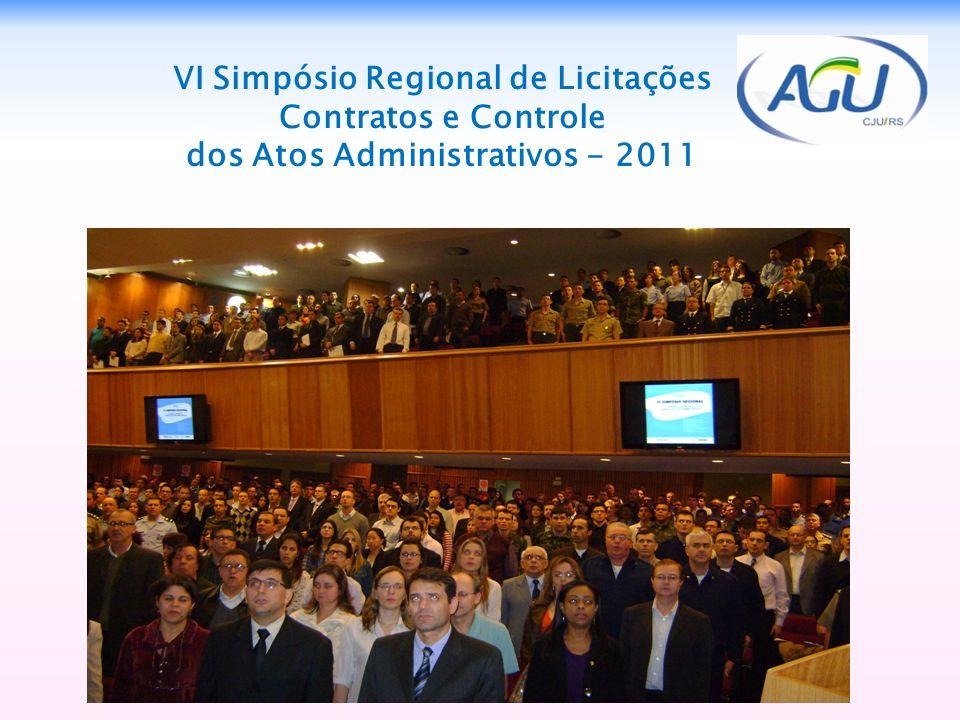 7 VI Simpósio Regional de Licitações Contratos e Controle dos Atos Administrativos - 2011