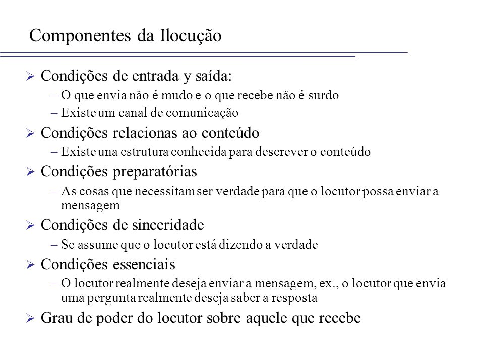 Componentes da Ilocução