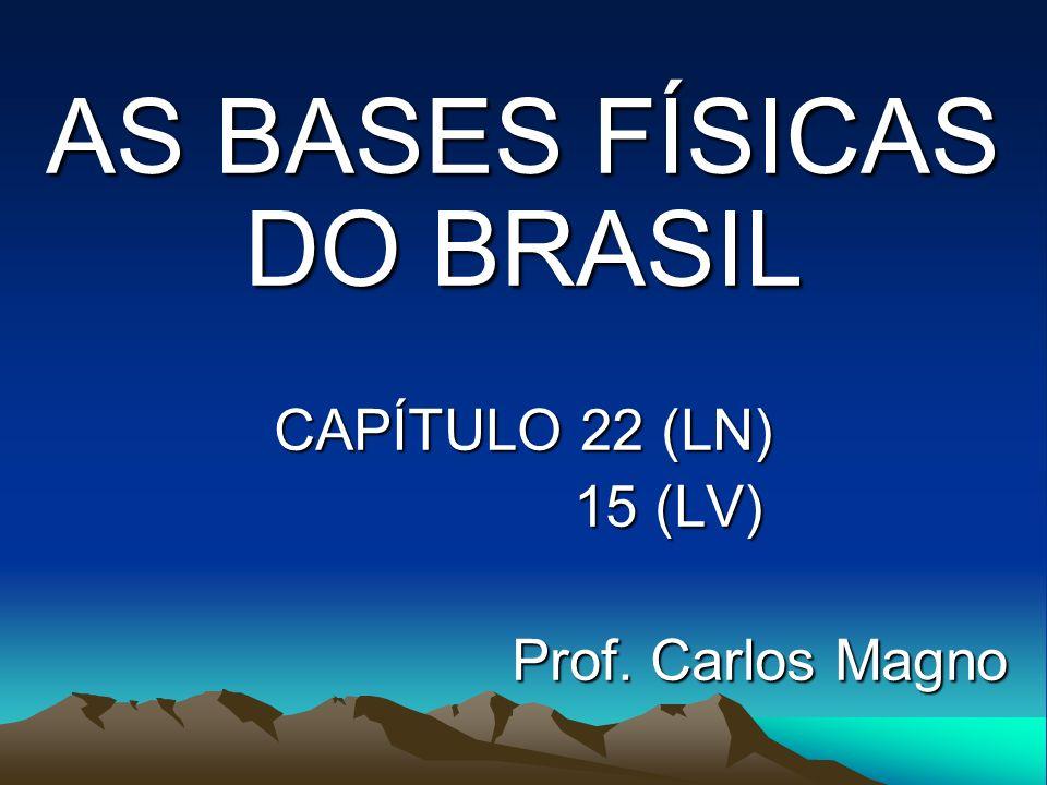 AS BASES FÍSICAS DO BRASIL CAPÍTULO 22 (LN) 15 (LV) Prof. Carlos Magno