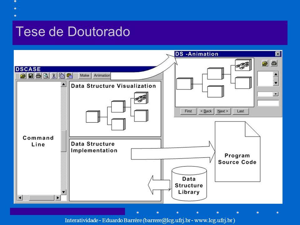 Tese de Doutorado Interatividade - Eduardo Barrére (barrere@lcg.ufrj.br - www.lcg.ufrj.br )