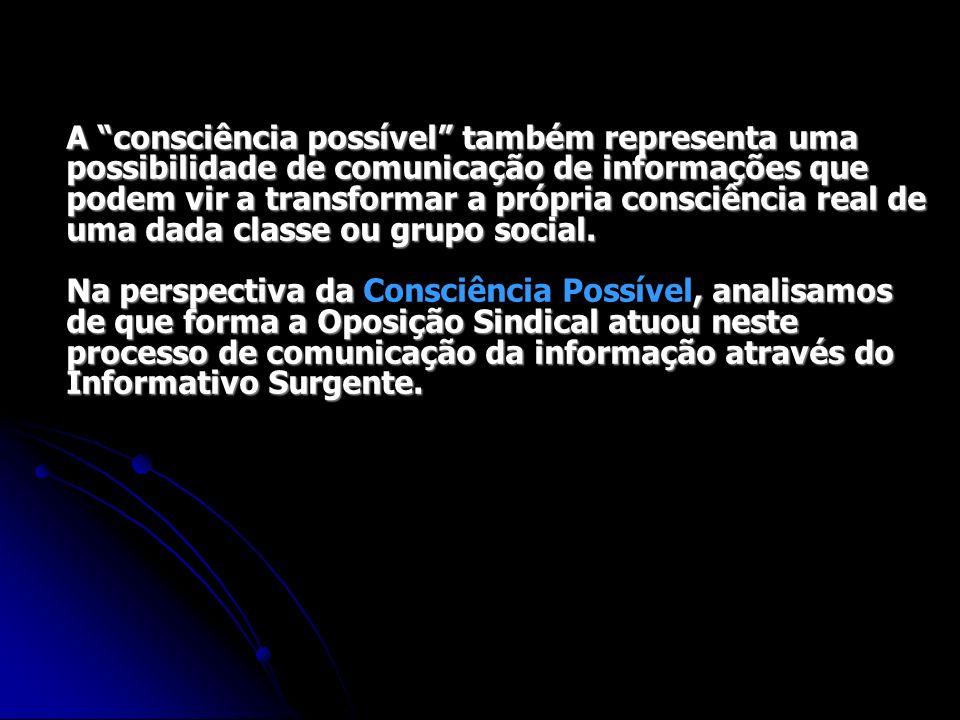 A consciência possível também representa uma possibilidade de comunicação de informações que podem vir a transformar a própria consciência real de uma dada classe ou grupo social.