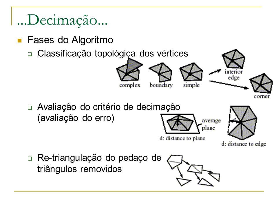 ...Decimação... Fases do Algoritmo