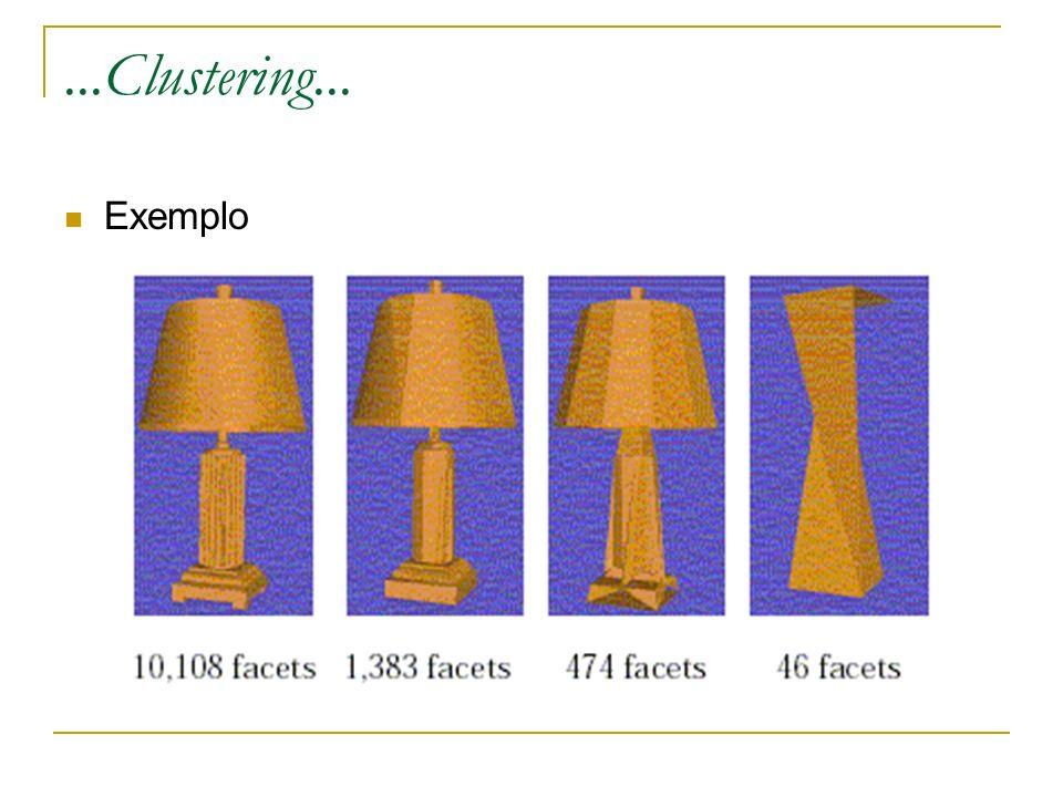 ...Clustering... Exemplo