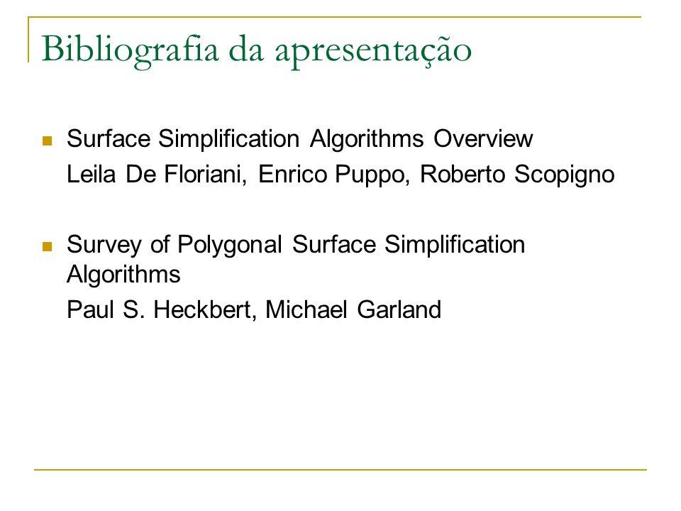 Bibliografia da apresentação