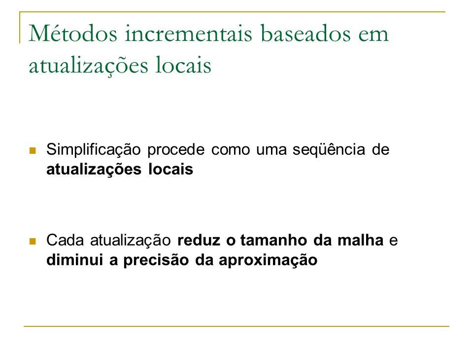 Métodos incrementais baseados em atualizações locais
