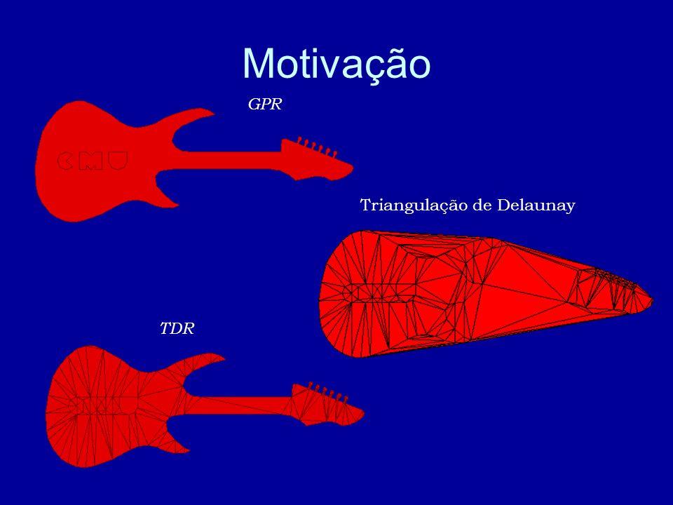 Motivação TDR Triangulação de Delaunay GPR