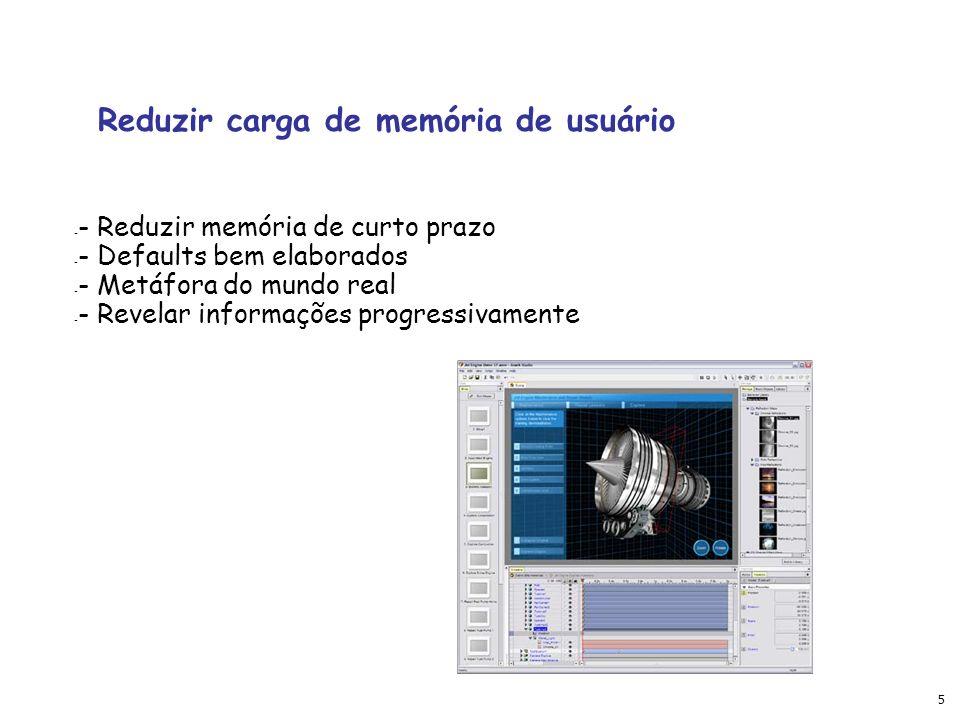 Reduzir carga de memória de usuário