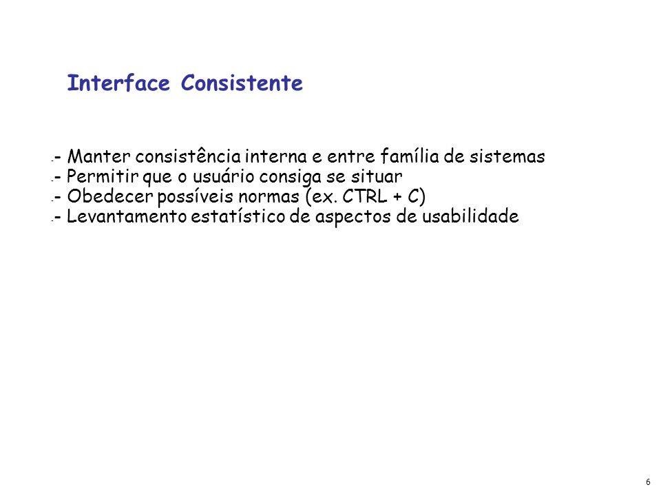 Interface Consistente