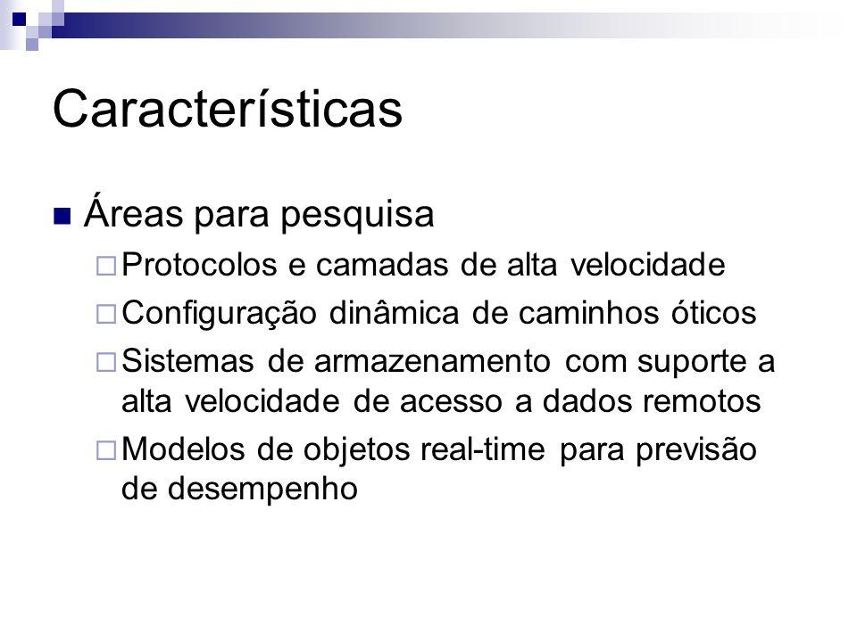 Características Áreas para pesquisa