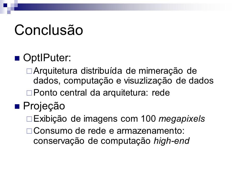 Conclusão OptIPuter: Projeção