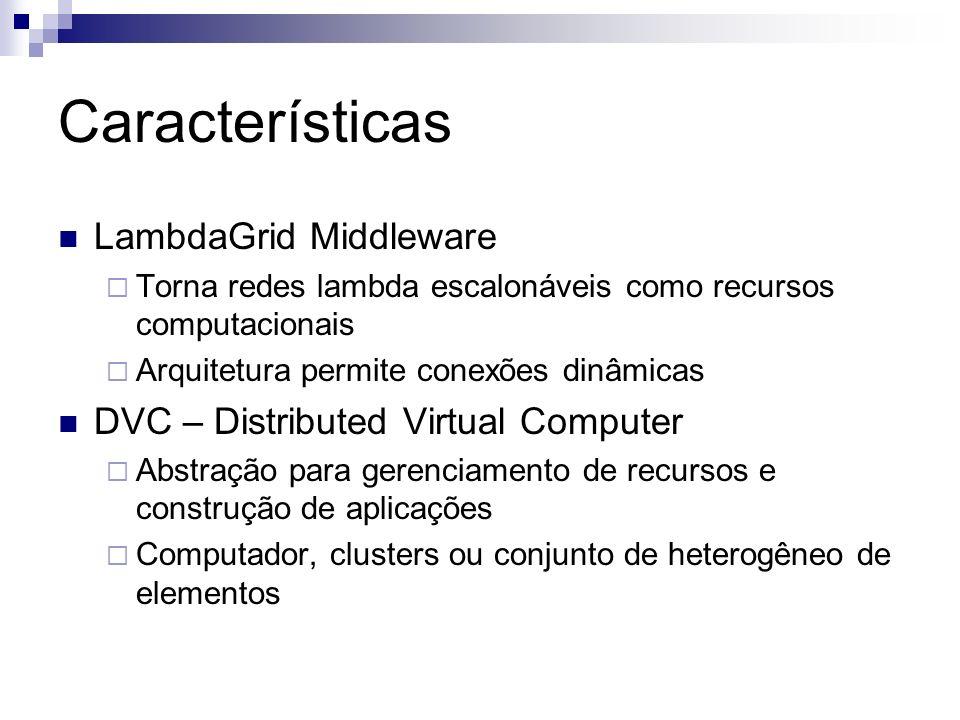 Características LambdaGrid Middleware