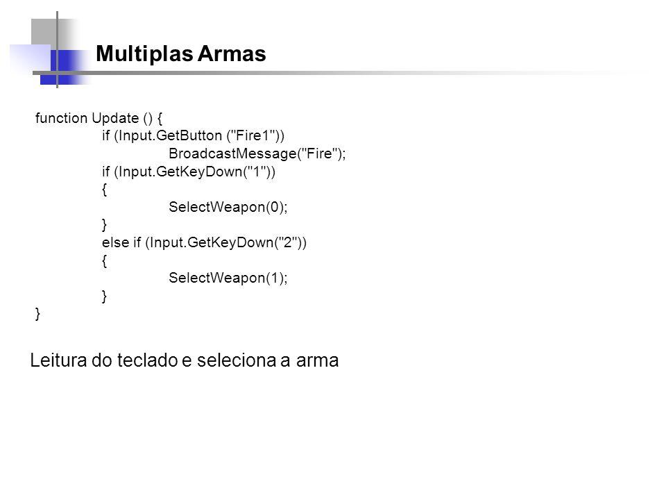 Multiplas Armas Leitura do teclado e seleciona a arma