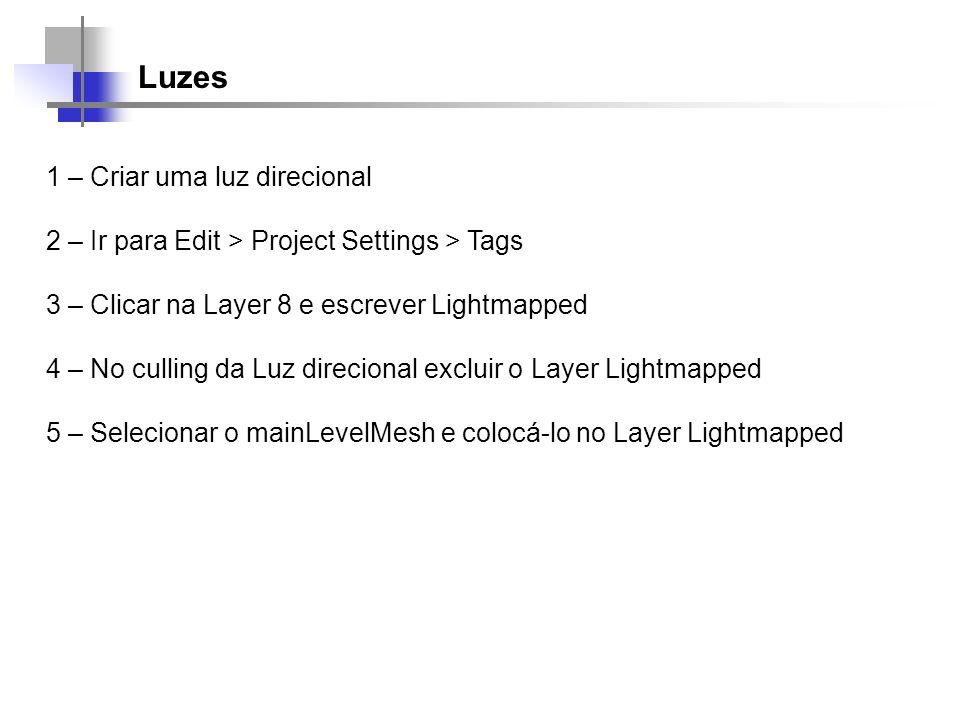 Luzes 1 – Criar uma luz direcional