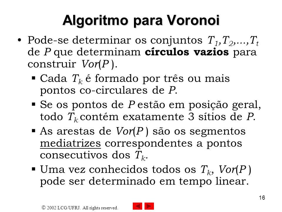 Algoritmo para Voronoi