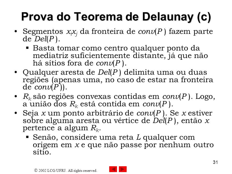 Prova do Teorema de Delaunay (c)