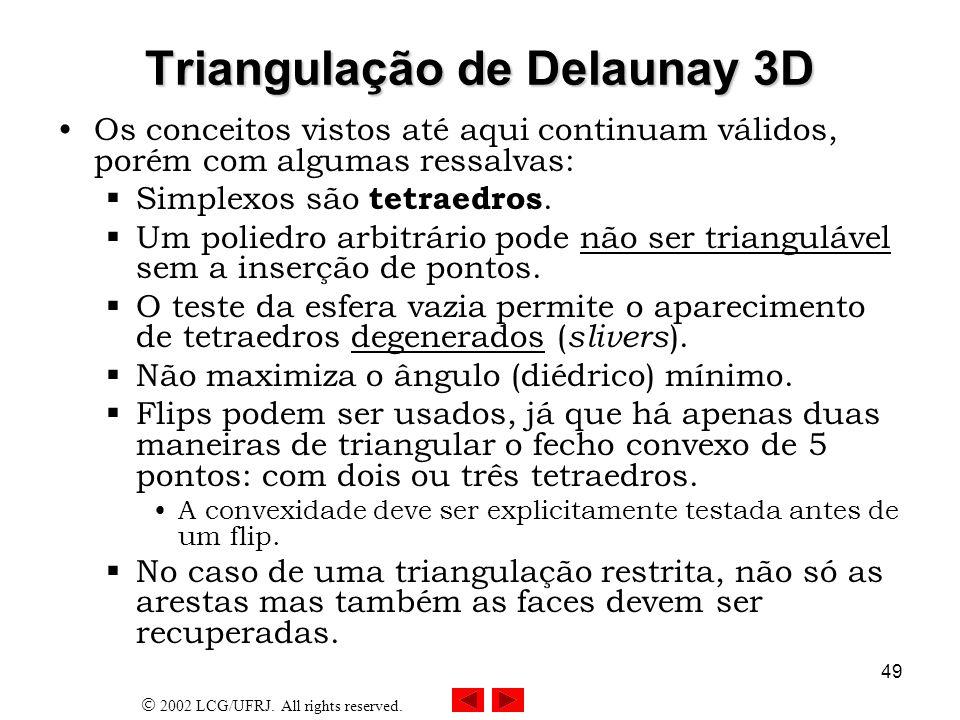 Triangulação de Delaunay 3D