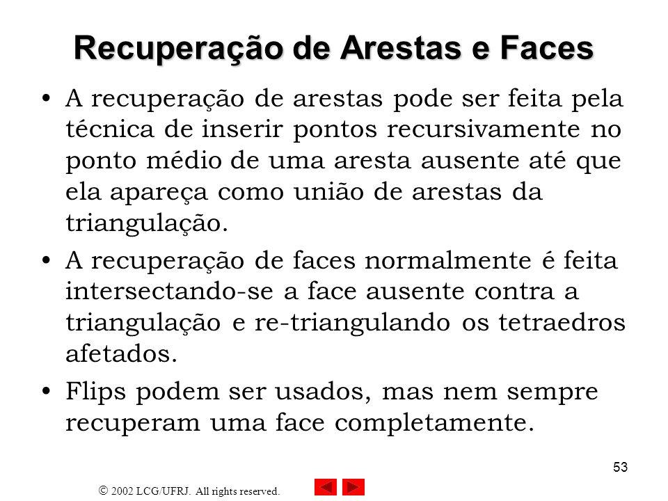 Recuperação de Arestas e Faces