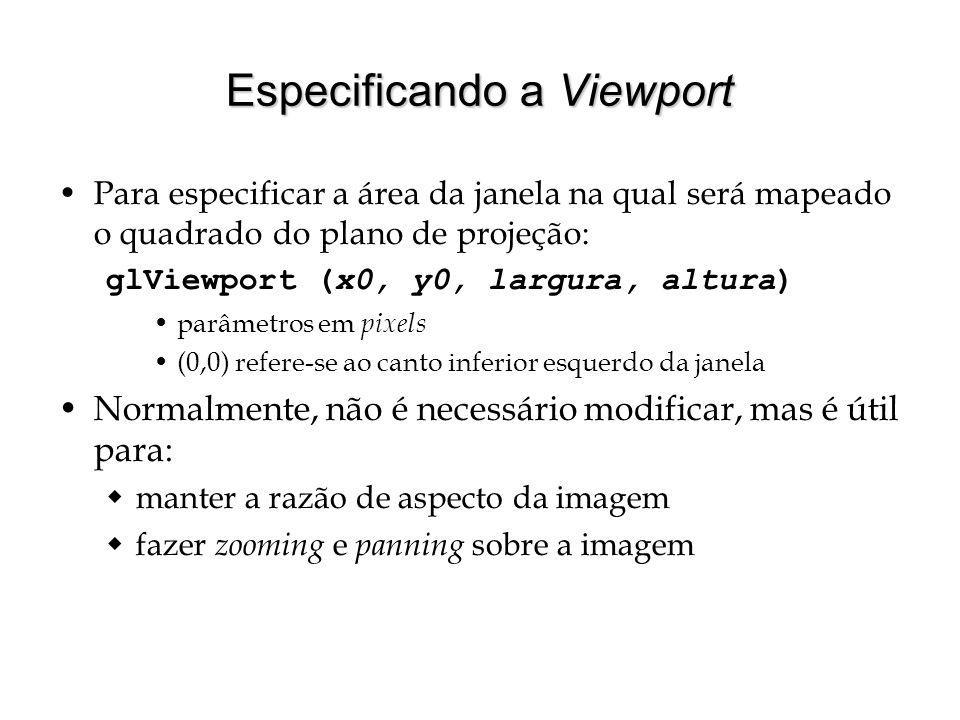 Especificando a Viewport
