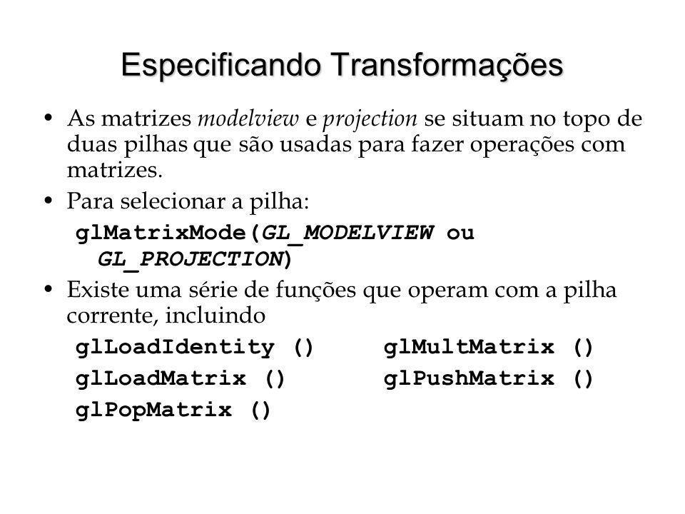 Especificando Transformações