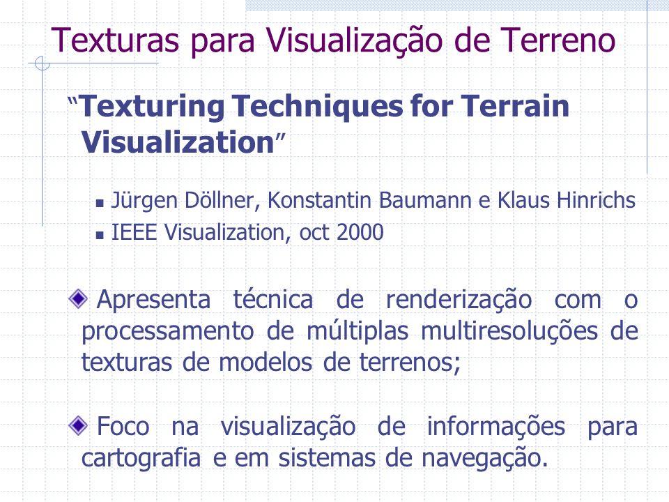 Texturas para Visualização de Terreno