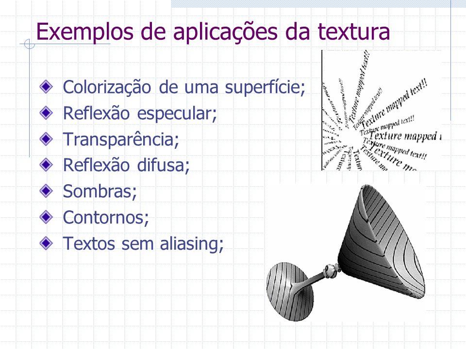 Exemplos de aplicações da textura