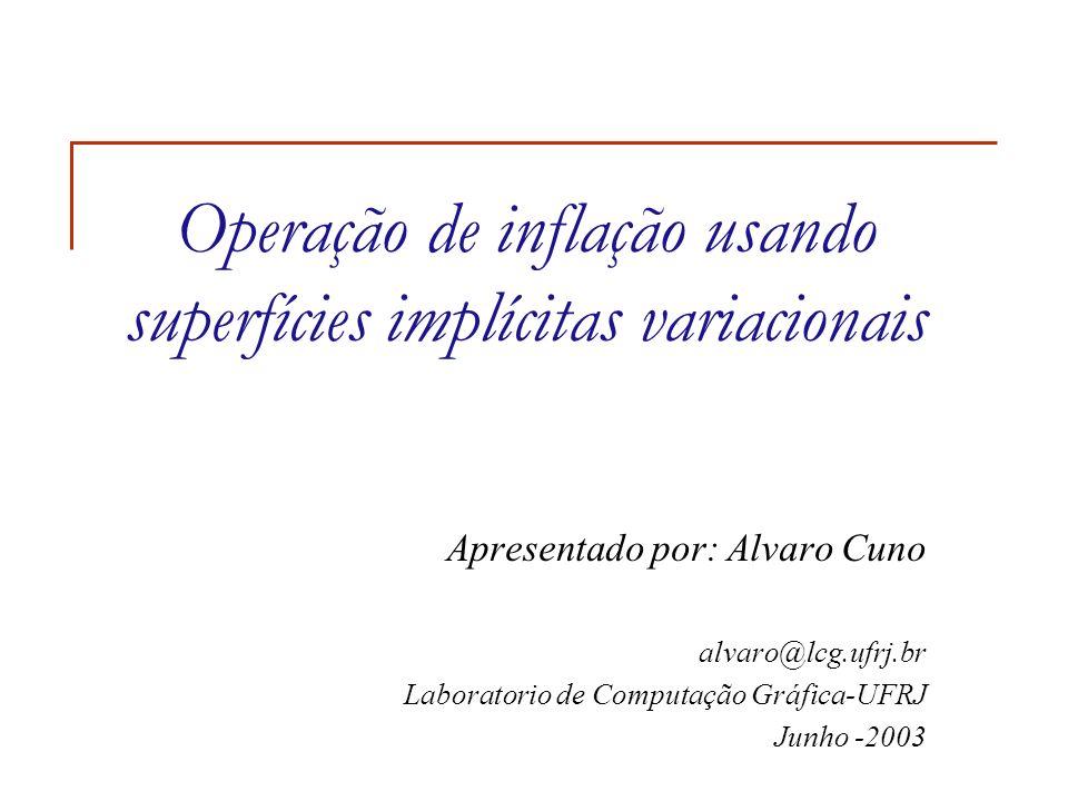 Operação de inflação usando superfícies implícitas variacionais