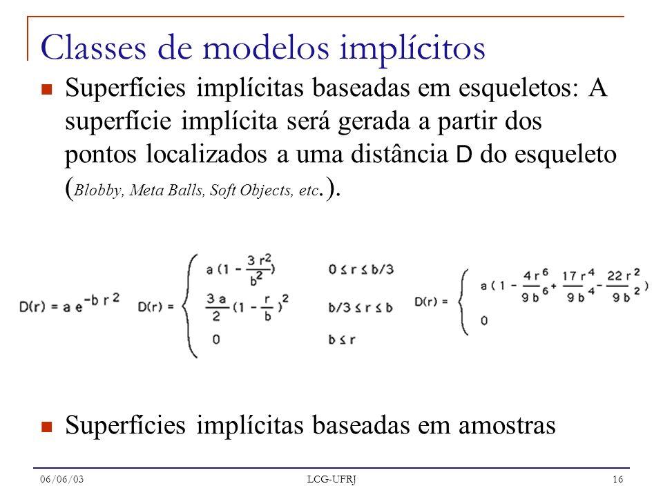 Classes de modelos implícitos