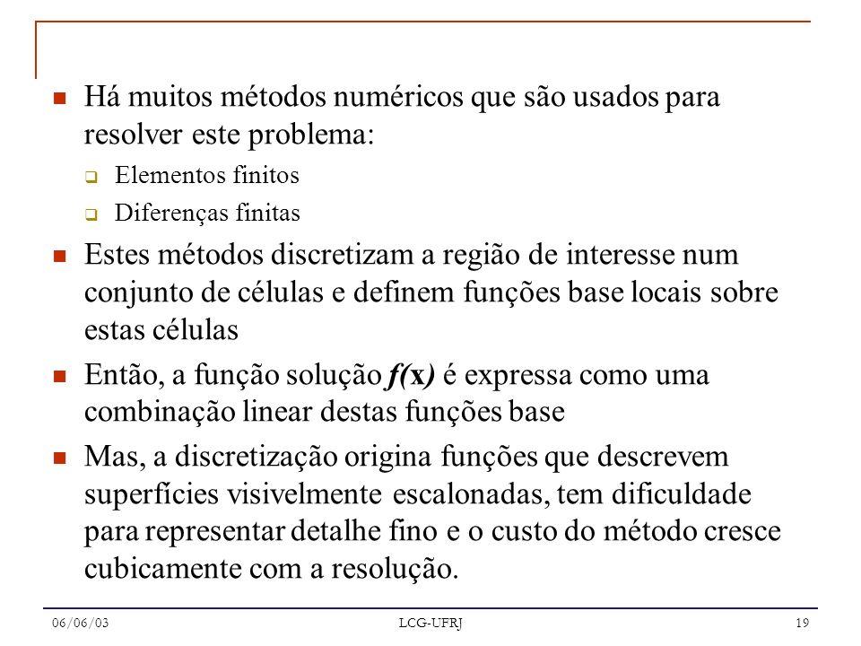 Há muitos métodos numéricos que são usados para resolver este problema:
