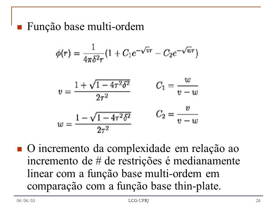 Função base multi-ordem