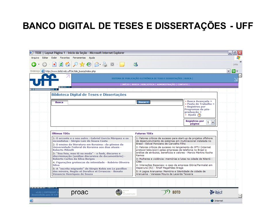 BANCO DIGITAL DE TESES E DISSERTAÇÕES - UFF