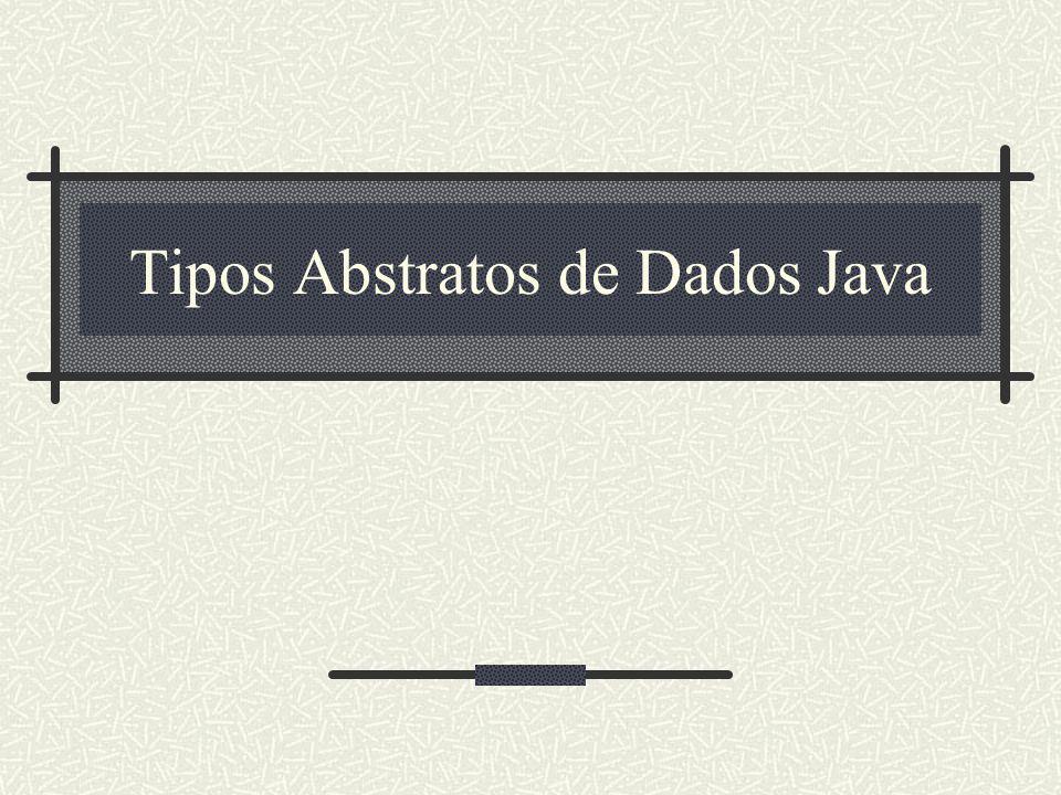 Tipos Abstratos de Dados Java