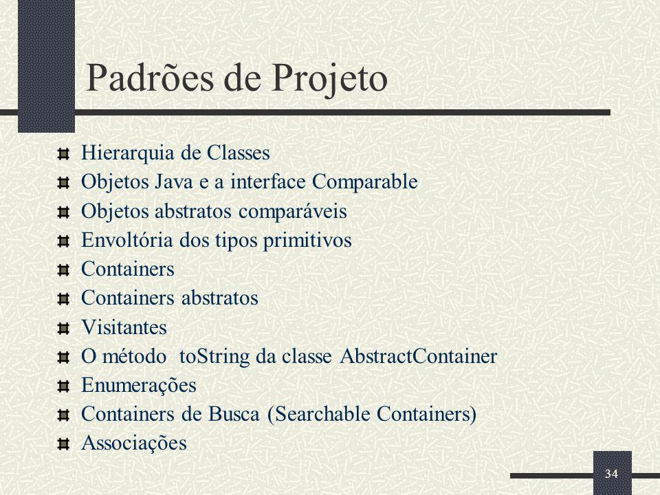 Padrões de Projeto Hierarquia de Classes