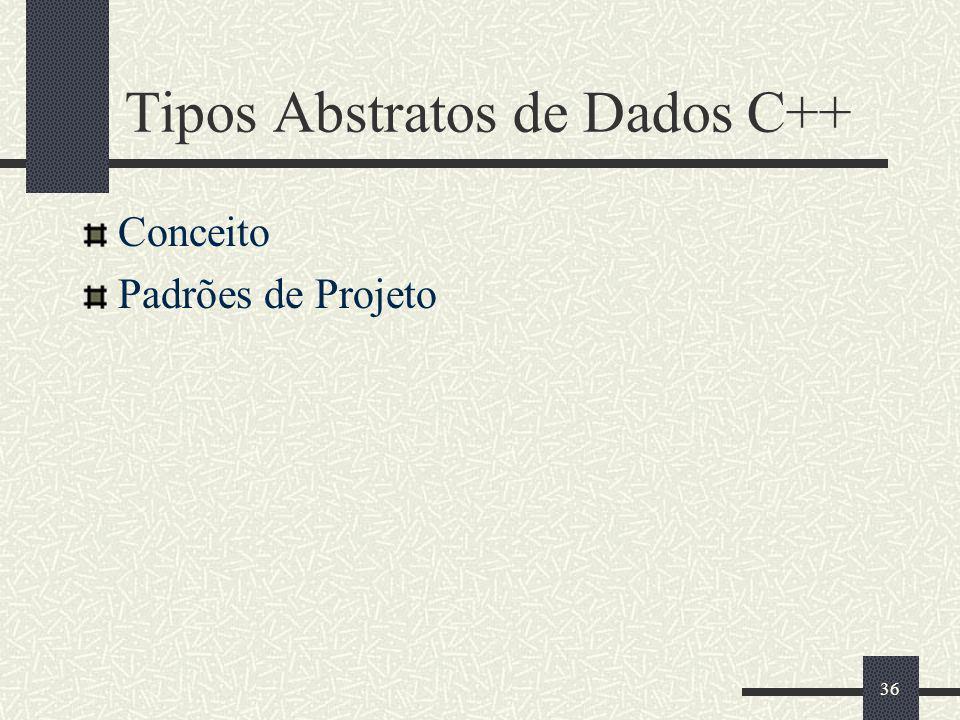 Tipos Abstratos de Dados C++
