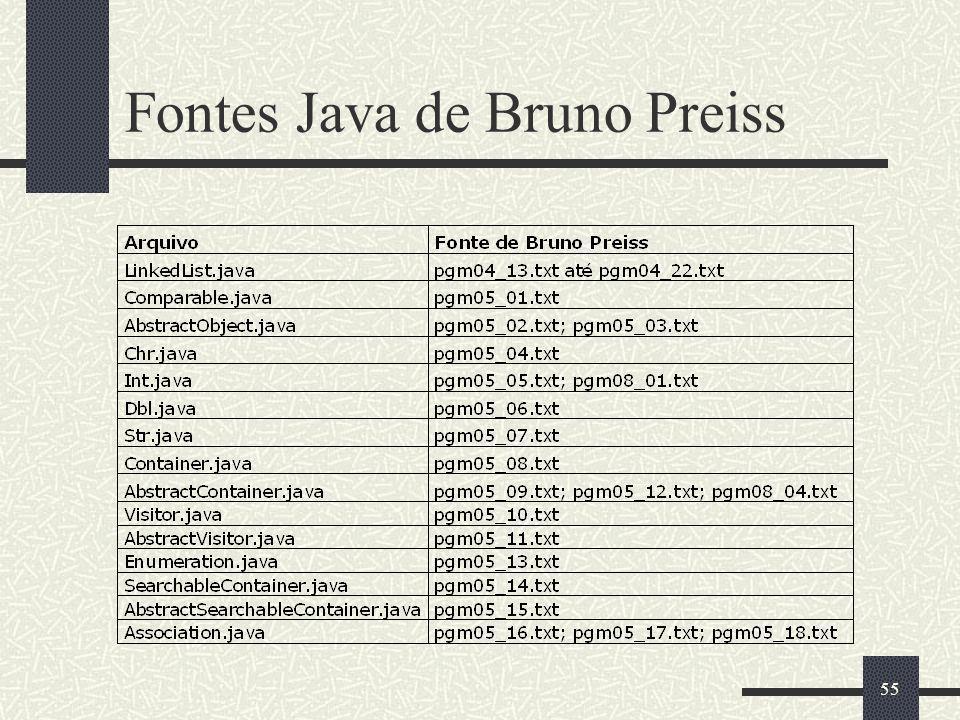 Fontes Java de Bruno Preiss