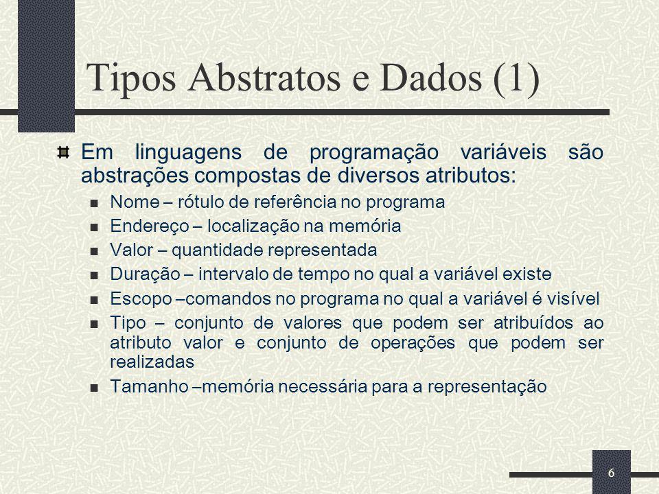 Tipos Abstratos e Dados (1)