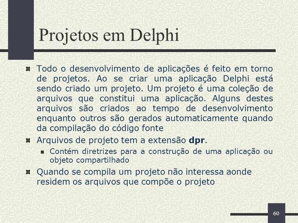 Projetos em Delphi
