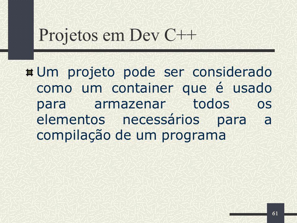 Projetos em Dev C++