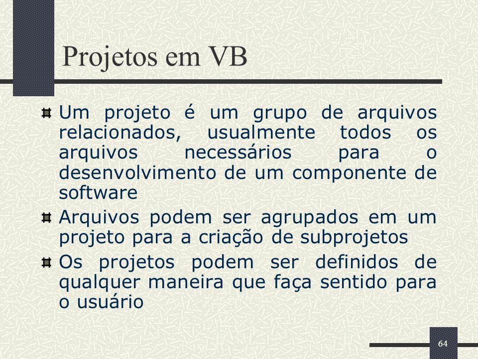 Projetos em VB