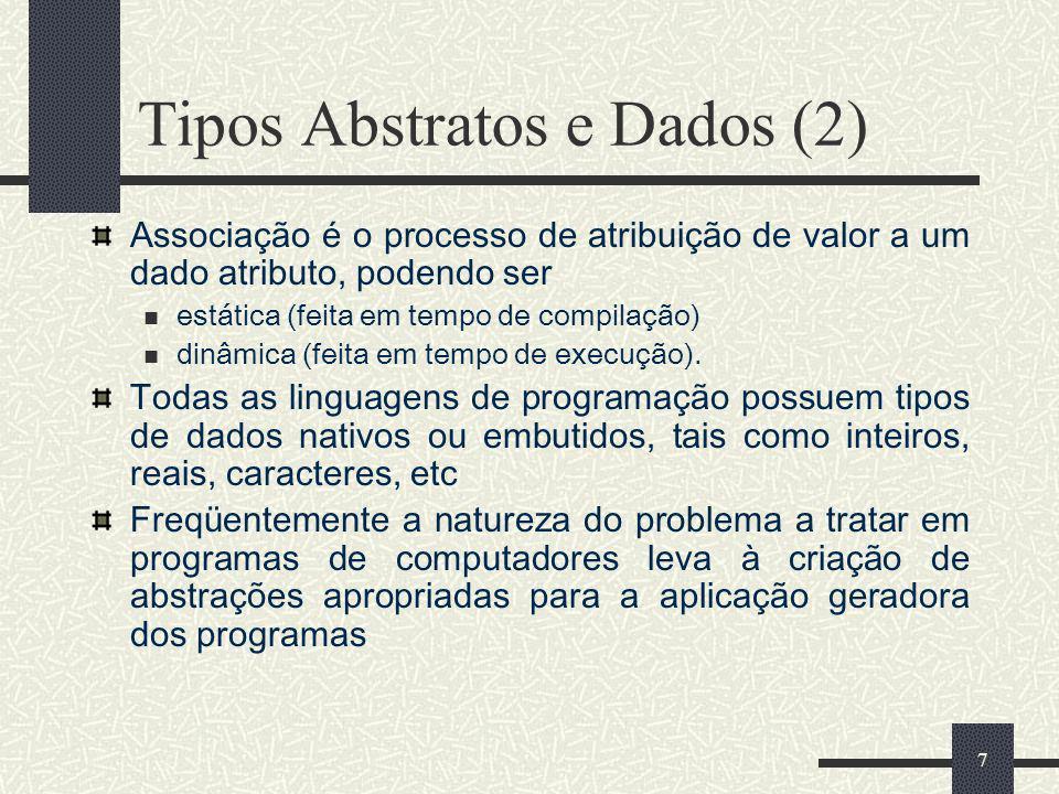 Tipos Abstratos e Dados (2)