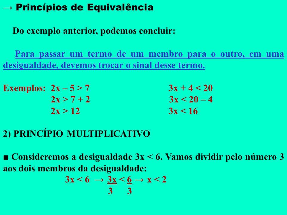 → Princípios de Equivalência