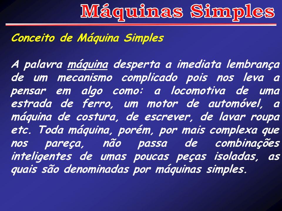 Máquinas Simples Conceito de Máquina Simples