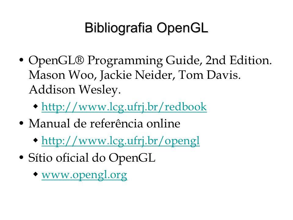 Bibliografia OpenGL OpenGL® Programming Guide, 2nd Edition. Mason Woo, Jackie Neider, Tom Davis. Addison Wesley.
