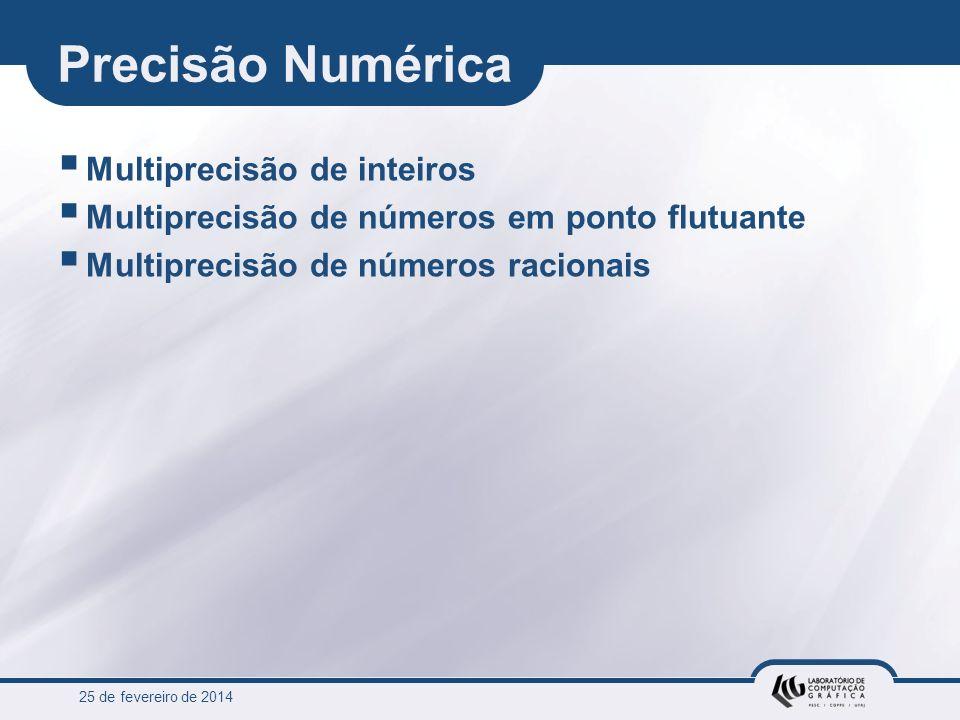 Precisão Numérica Multiprecisão de inteiros