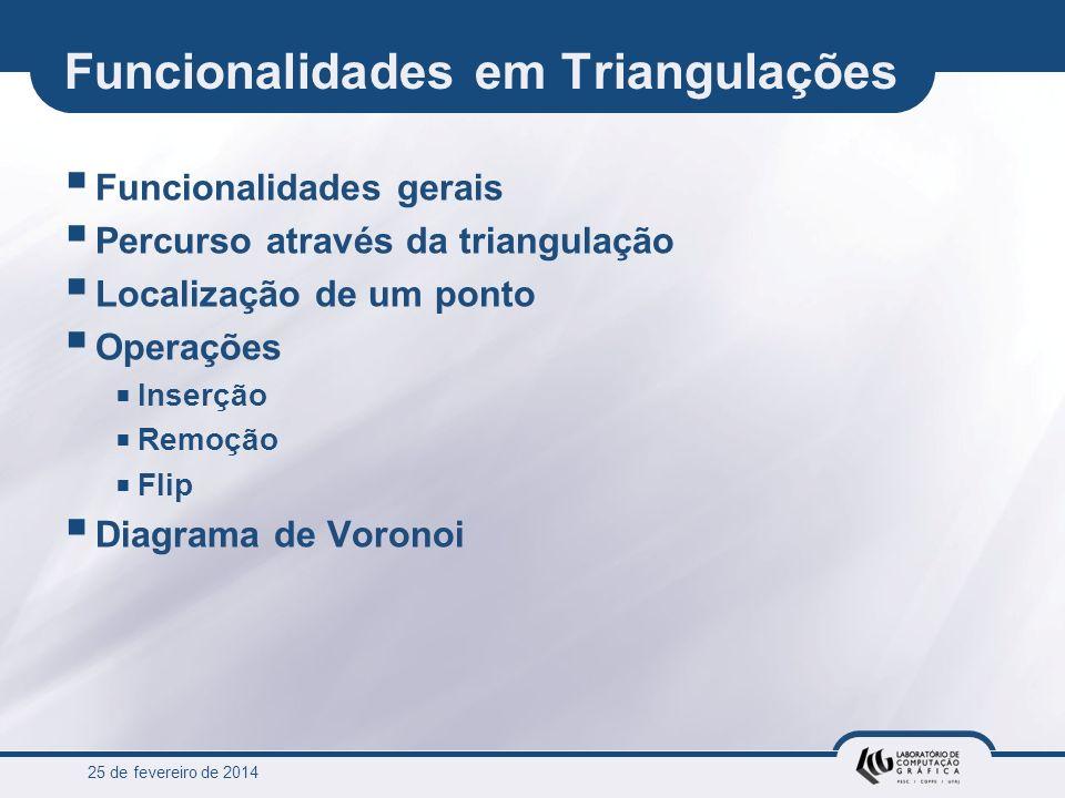 Funcionalidades em Triangulações
