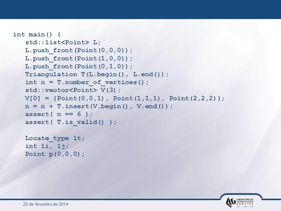 std::list<Point> L; L.push_front(Point(0,0,0));
