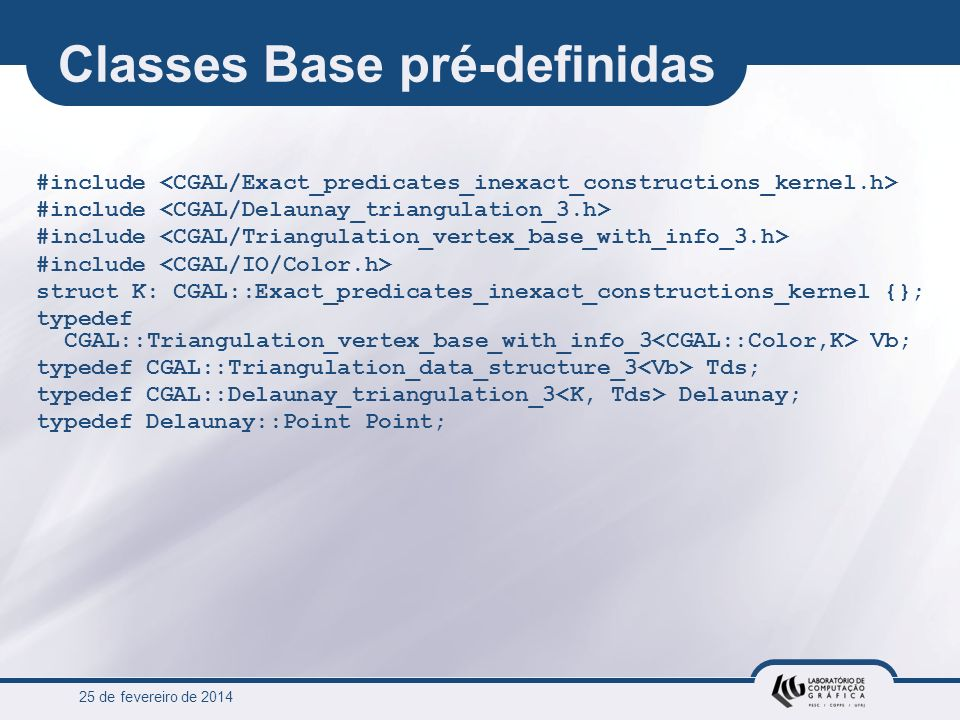 Classes Base pré-definidas