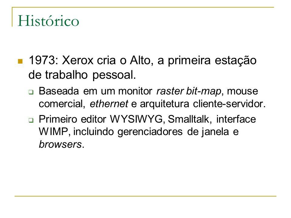 Histórico 1973: Xerox cria o Alto, a primeira estação de trabalho pessoal.