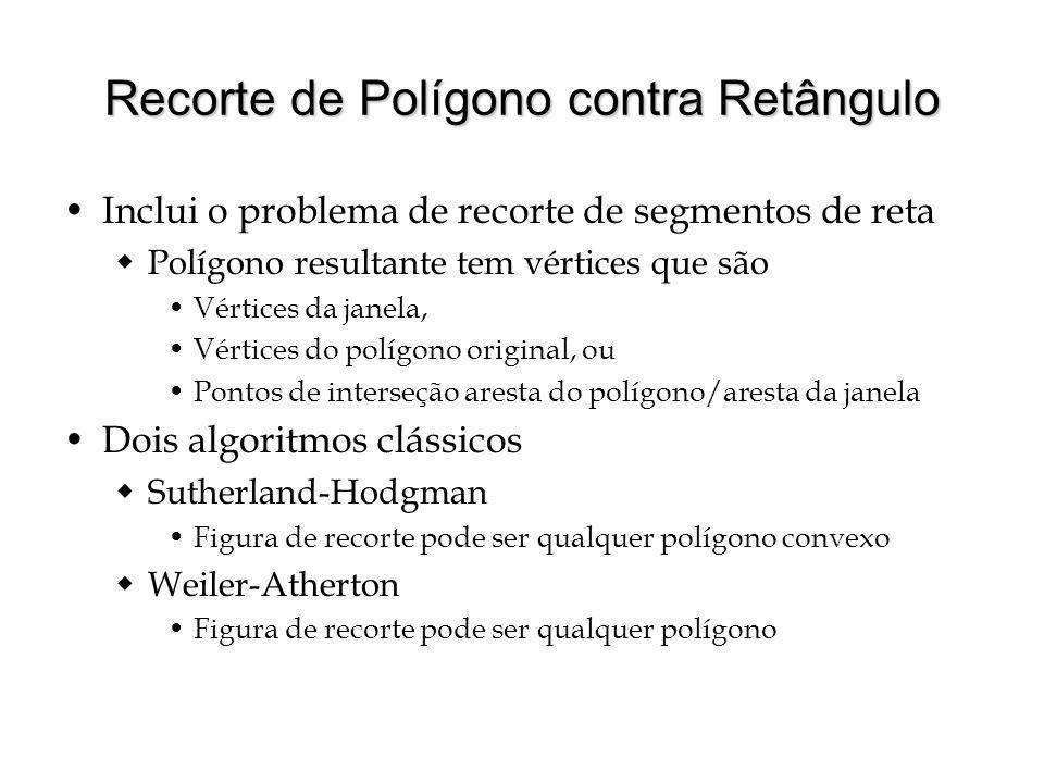Recorte de Polígono contra Retângulo