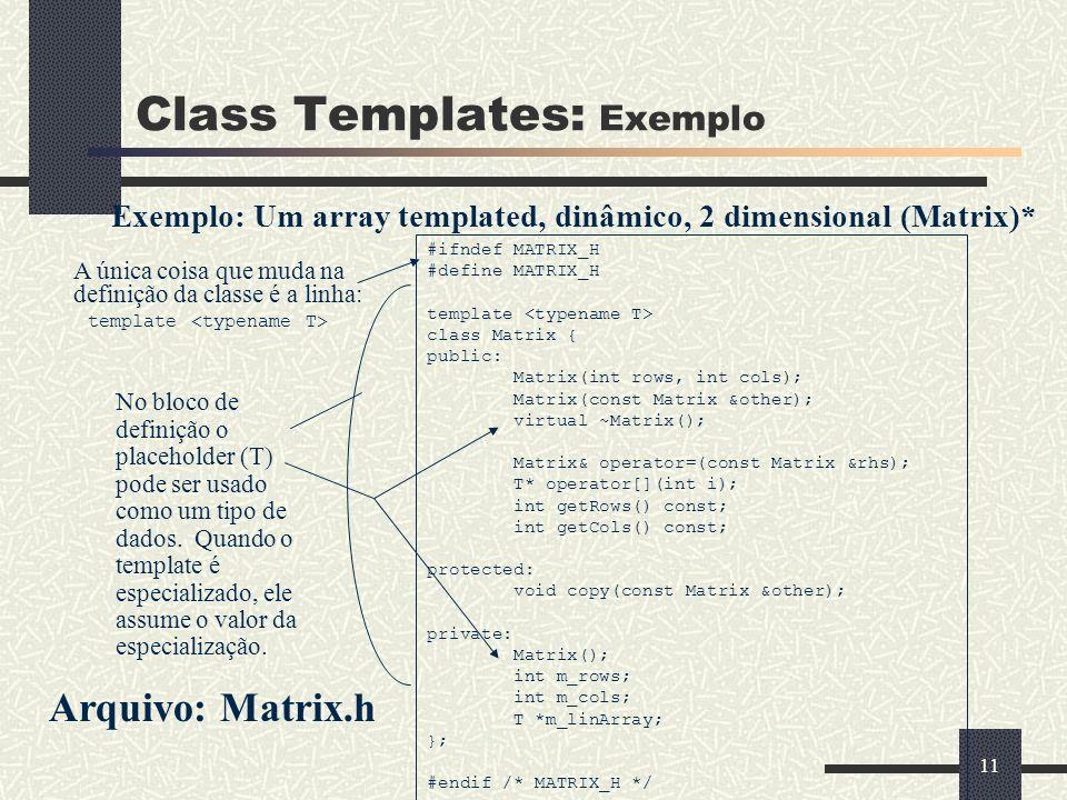 Class Templates: Exemplo